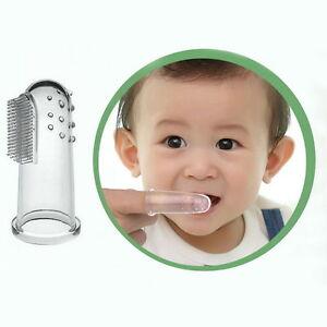 Baby Kid Soft Silicone Finger Toothbrush Gum Massage Brush Clean Teeth Box P3
