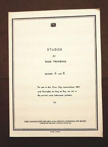 DernièRe Collection De Abrsm Studies For Bass Trombone-grades 6 & 8-afficher Le Titre D'origine Dernier Style