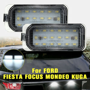 2pcs-18LED-Licence-Number-Light-No-Error-For-Ford-Fiesta-Focus-C-Max-Kuga-Mondeo