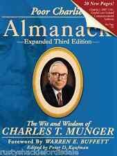 Poor Charlie's Almanack - SIGNED - Charlie Munger - Berkshire Hathaway - New