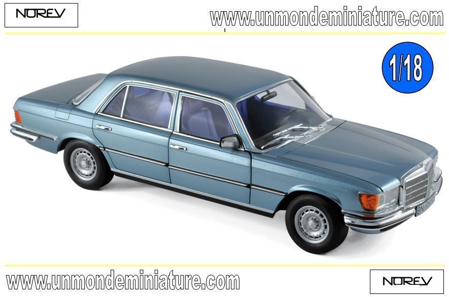 Mercedes-Benz 450  SEL 6.9 1976 bleugris metallic  NOREV - 183457 - Echelle 1 18  dessins exclusifs