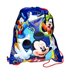 Image is loading MICKEY-MOUSE-DONALD-DUCK-amp-GOOFY-DRAWSTRING-BAG- 6192ac0465527
