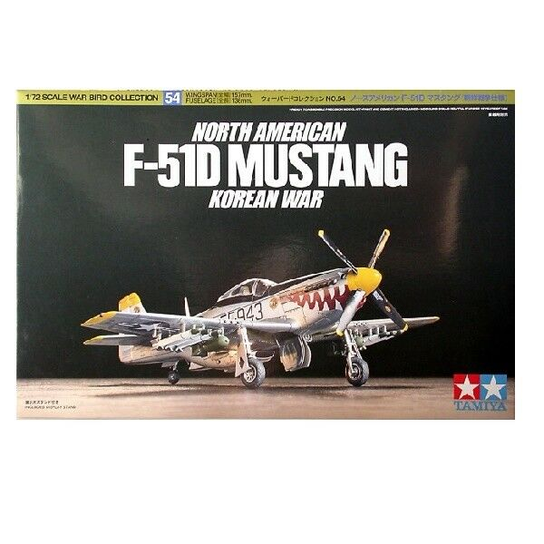 Tamiya  60754 North American F-51D Mustang  war  1:72 new model kit