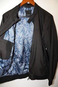 da593f015 Details about #265 TED BAKER Black Polyester Bomber Jacket Size 3