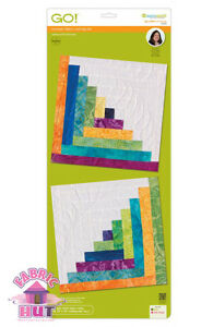 55349- Accuquilt GO! & Big Log Cabin 12 Inch Finished Cut Die Leslie Main Quilt