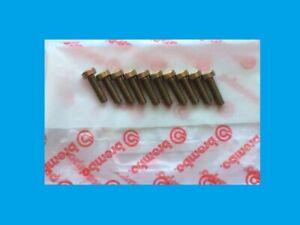 DUCATI 888 FAIRING BOLTS  HALF HEAD SET 10/ZINC GOLD 6MM DIAMETER  20MM LONG