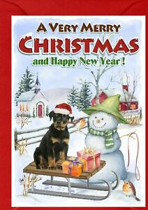 Rottweiler-Dog-A6-4-034-x-6-034-Christmas-Card-No-2-Blank-inside-by-Starprint