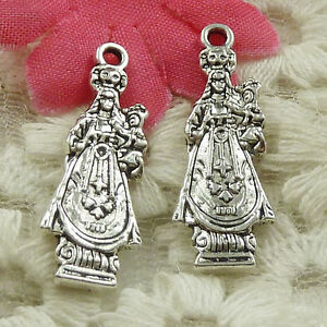 #4618 Free Ship 168 pieces Antique silver Jesus charms 27x10mm