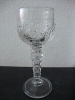 Weinglas Pressglas klar: Dekor : Weinreben, Weinranken : h.: ca. 16,7