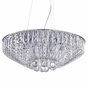 98c46a9452f Image is loading 6-Light-Crystal-Effect-Chrome-Ceiling-Pendant-Light-