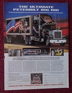 1995-Print-Ad-Franklin-Mint-Model-Diecast-Car-Ultimate-Peterbilt-Big-Rig-Truck