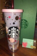 Starbucks BE JOYFUL Pink Polka Dot Cold Cup Venti 24oz Birthday Graduation