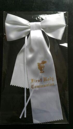 Sealed Pkg  US Seller! Boys First Communion White  Arm Band  Arm Bow Brand New