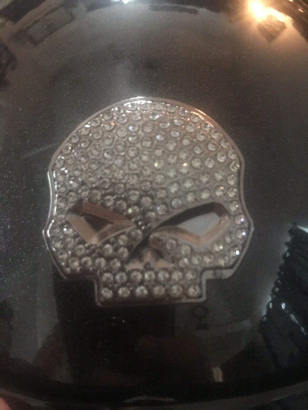 donna Sm Harley Davidson Metallic  Crystal Skull Helmet Hybrid Classic Cruiser