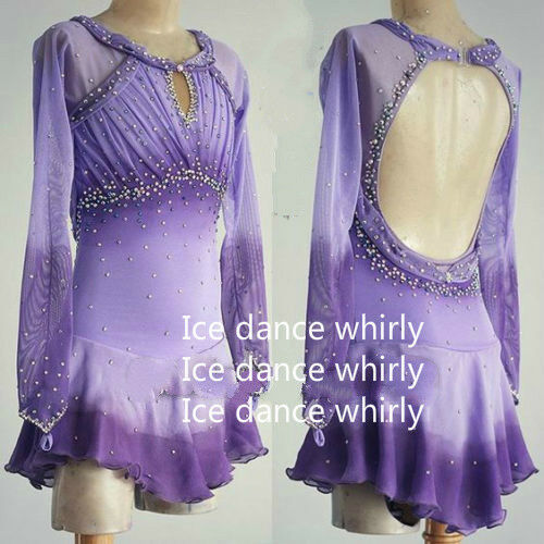 Ice Figure Skating Dress Figure skaitng Dress  For Competition  A371  low prices