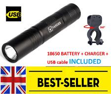 black front 1200 lumen bike light set - focus aluminium alloy bright lamp 18650