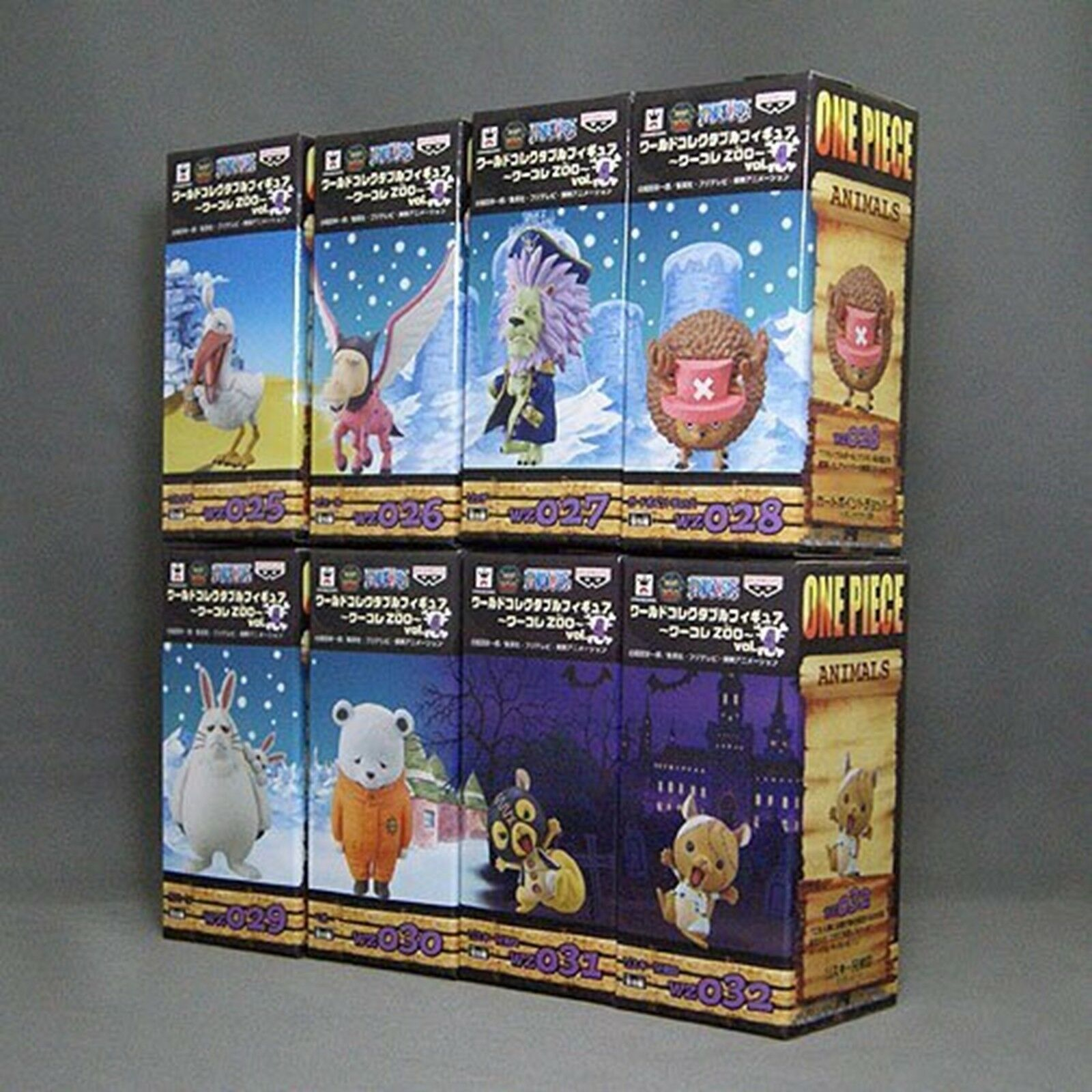 ONE PIECE WCF World Collectable Figure ZOO vol.4 Complete set JAPAN NEW