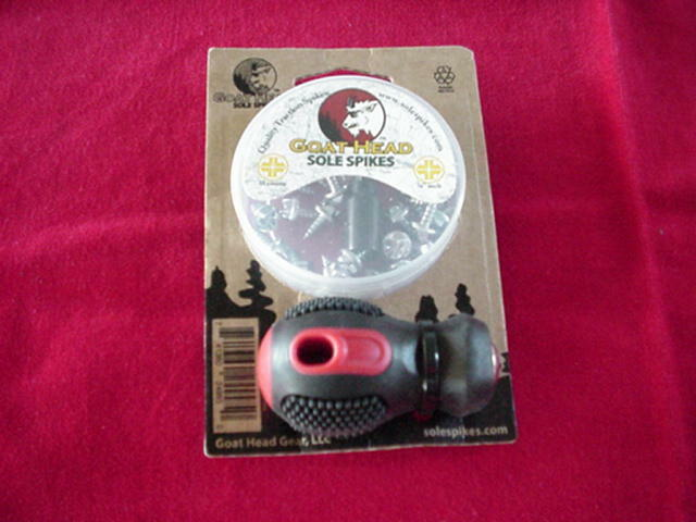 Goat Head Wading Sole Spikes with Inssizetion Tool 30 Spikes & Tool GREAT NEW