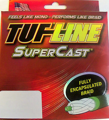 TUF LINE SUPERCAST PREMIUM BRAIDED FISHING LINE  125 YDS YELLOW