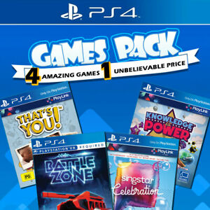 PS4 Games Bundle Sony Playstation 4 Game NEW Battlezone VR Singstar Thats You