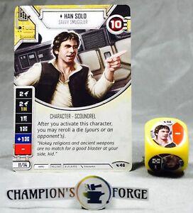 Star Wars Destiny Legacies Set Han Solo #46 Rare w/ Premium Die