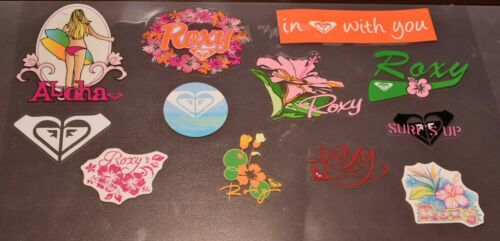 Roxy Stickers Decals 12 to choose from