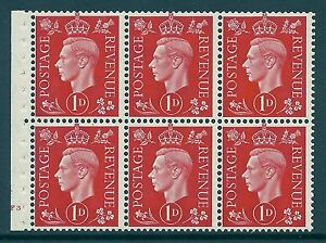 QB10 perf type B4B(E) cylinder F3 No Dot -1d Red Booklet pane UNMOUNTED MINT/MNH