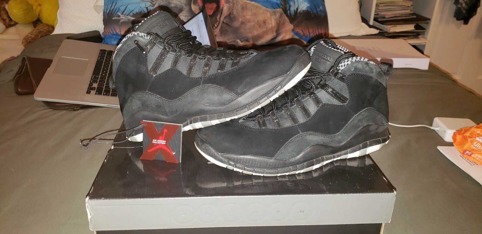Nike Air Jordan 10 stealth size 8.5 New shoes for men and women, limited time discount
