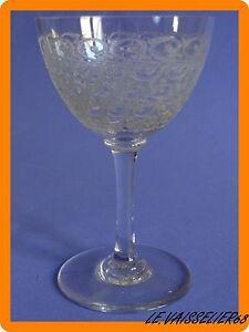 Un Ancien Verre A Vin Aperitif Porto En Cristal De Baccarat Rohan Défaut 10,5 Cm