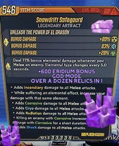 Borderlands 3 Modded ERIDIUM Artifact +650% Eridium & Speed🔶God Mode🔷 XBOX PS4