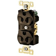 5242 Hubbell Bryant Receptacle 2 Pole 3 Wire Grounding 15a 125v 5 15r Brown