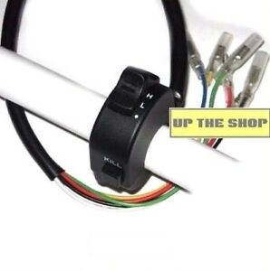 Handlebar-switch-assembly-stop-button-on-off-lights-Hi-low-beam-narrow-fit