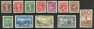 Canada-3-Stamp-Collection-from-Old-Album-Used