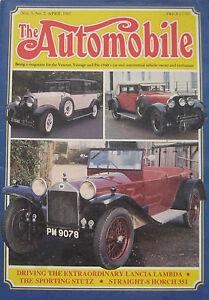 The-Automobile-magazine-Vol-3-No-2-04-1985-featuring-Lancia-Stutz-Horch