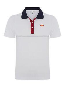 35ae9d48 Details about Men's ellesse Rovigo Polyester Tennis Polo Shirt - White