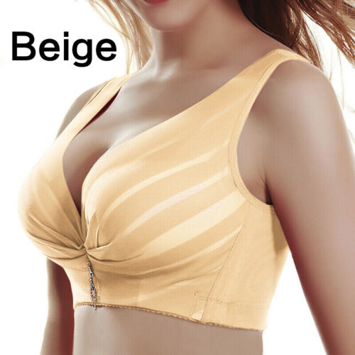 Women Soft Wireless Full Coverage Bra Push Up Gather Adjustable Breathable Tops