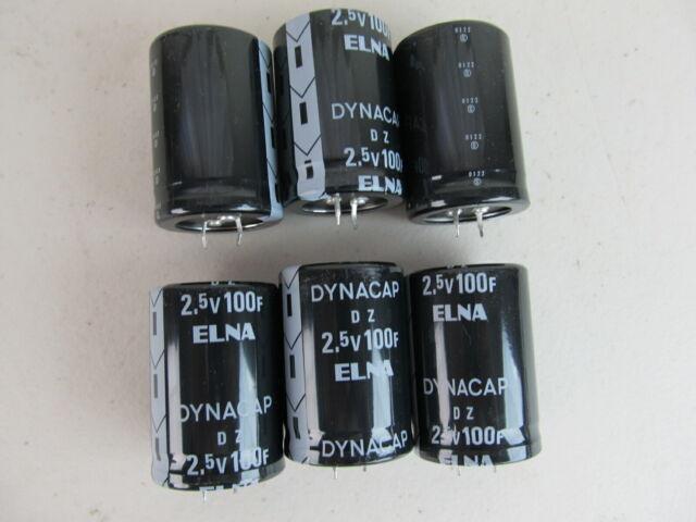 QTY=6 100F 2.5V farad ELNA Supercap Ultra Capacitor NEW USA SHIP