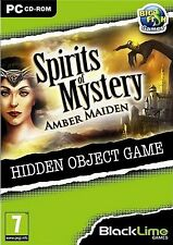 SPIRITS OF MYSTERY AMBER MAIDEN Hidden Object PC Game CD-ROM NEW