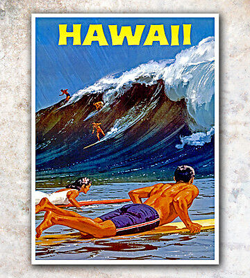"Hawaii Vintage Travel Poster 12x16"" Rare Hot New A43"