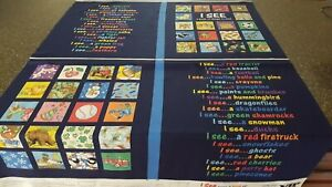 I See A Book of Things To Find Panel 35x42 VIP Pillow / Play Mat I Spy