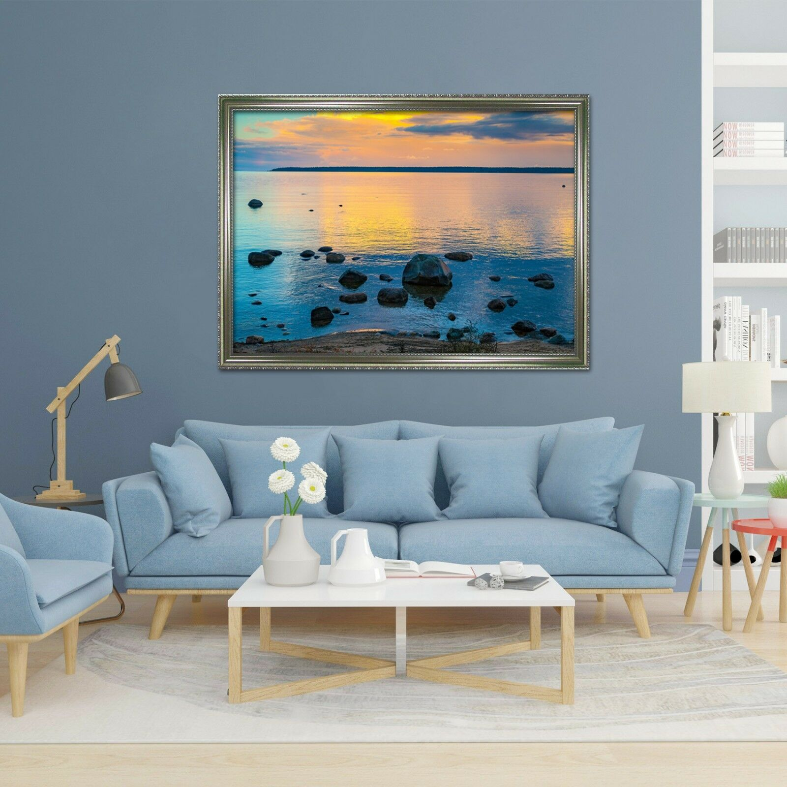 3D Twilight Sea 6 Framed Poster Home Decor Print Painting Art AJ WALLAPER