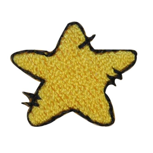 ID 3517 Lot of 3 Cartoon Yellow Star Patch Night Sky Embroidered IronOn Applique