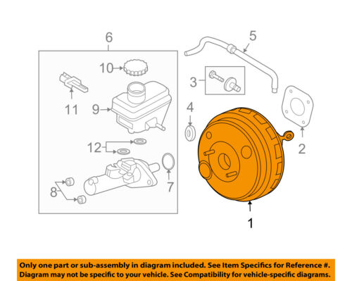 FORD OEM-Power Brake Vacuum Booster 9L8Z2005A