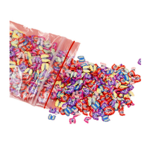 500X Tiny Cute Star,Cartoon,Flower,Fruit,Feather Fimo Slices Slicing Nail Decora