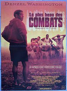Poster-The-Most-Beautiful-Of-Combats-Remember-Titans-Denzel-Washington-40x60cm