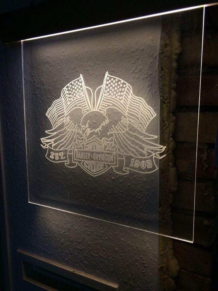 Skilt til væg, Harley Davidson