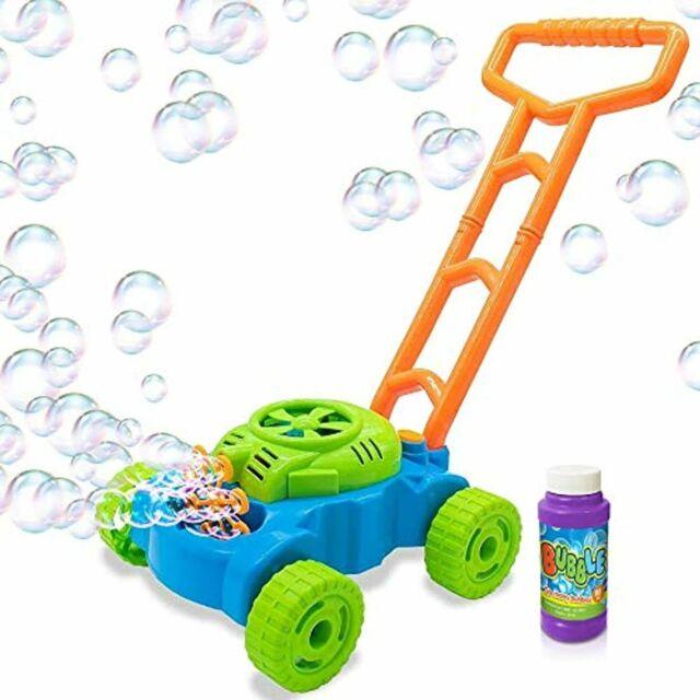 Electronic Bubble Lawn Mower Blower Machine Kids Toddler