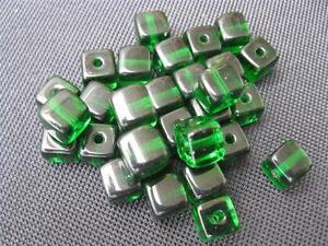 10 Glasperlen schwarz 8x8mm Shamballa Makramee Beads B949
