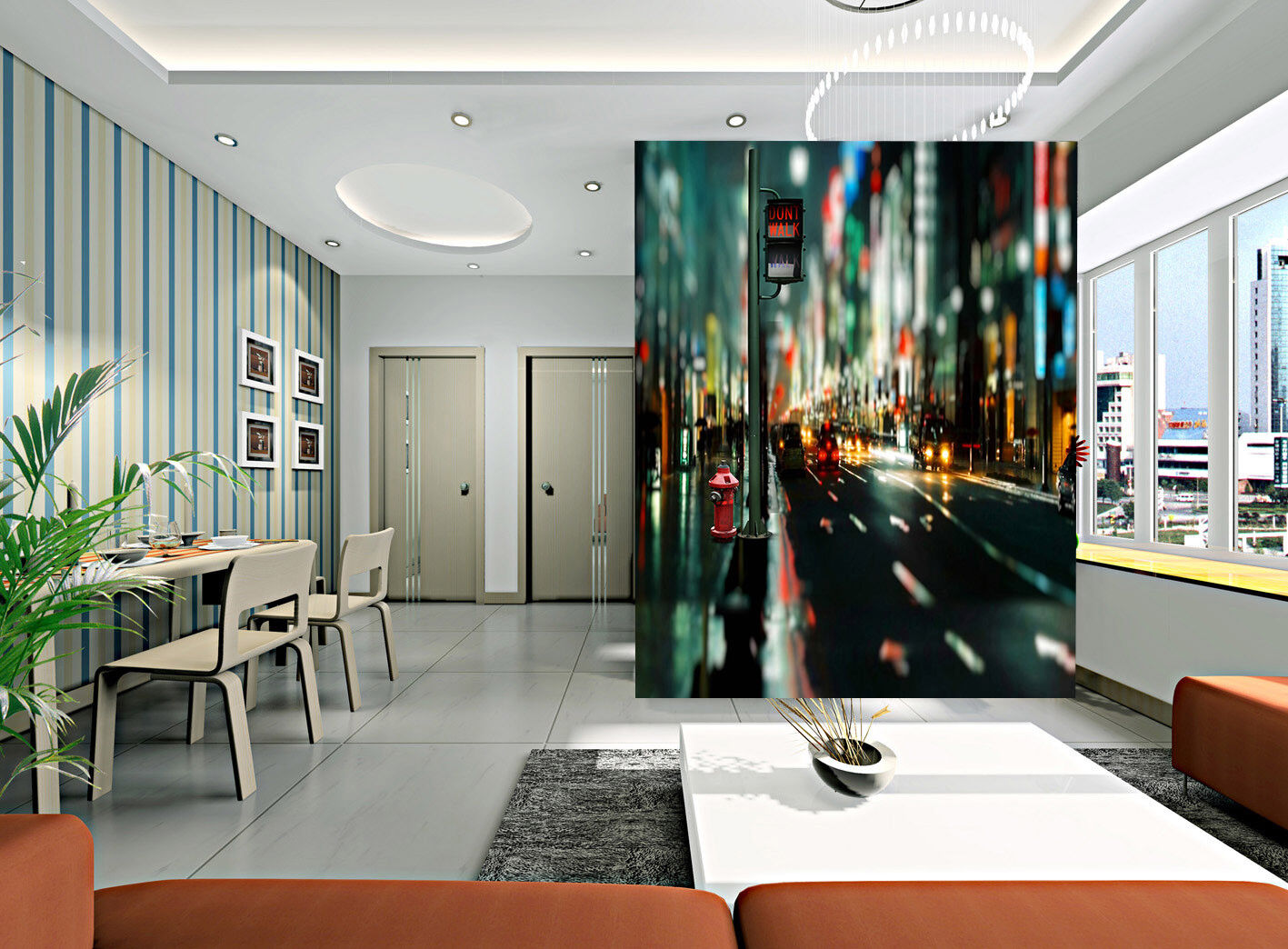 3D Belebte Straßen 566 Tapete Tapeten Mauer Foto Familie Tapete Wandgemälde DE