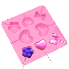 Silicone Lollipop Pop Mold Baking Tray Heart Flower Cake Cookie Chocolate Mould